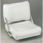 Helm seat Reversible seat Back to Back of polyurethane foam, with dark blue / white Venyl
