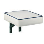 Wall folding seat, vinyl, Color white. Wherever space is available, it can be mounted folding seat