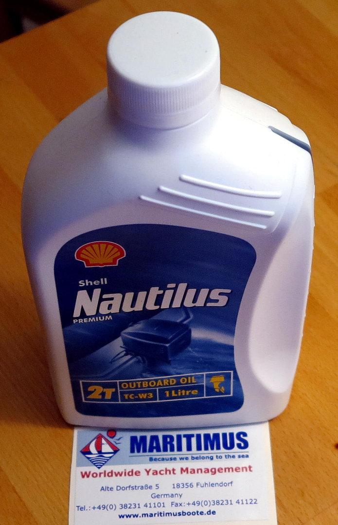 SHELL NAUTILUS Premium motor oil for 2-stroke outboard motors TC-W3 (1  liter)