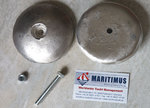 1 pair of rudder blade anodes of magnesium, OD. 100 mm