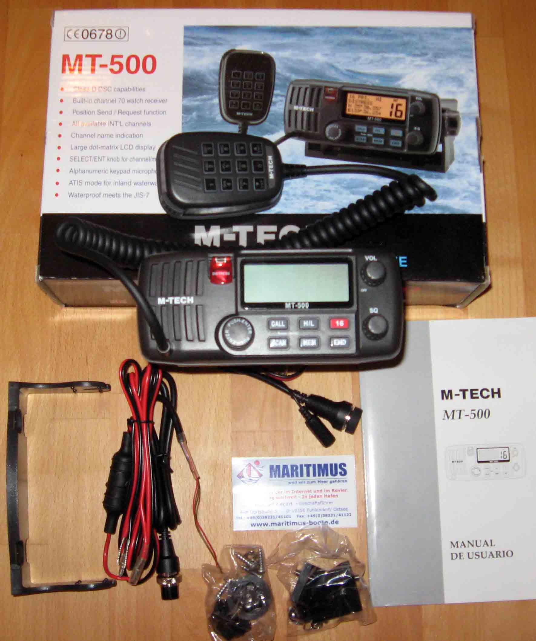 See und Binnenfunkanlage M Tech MT 500 mit DSC und ATIS