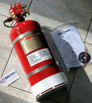 Fireboy MA2 Fire extinguishing systems, with extinguish Maximum Volume Protected 275 cu.ft.