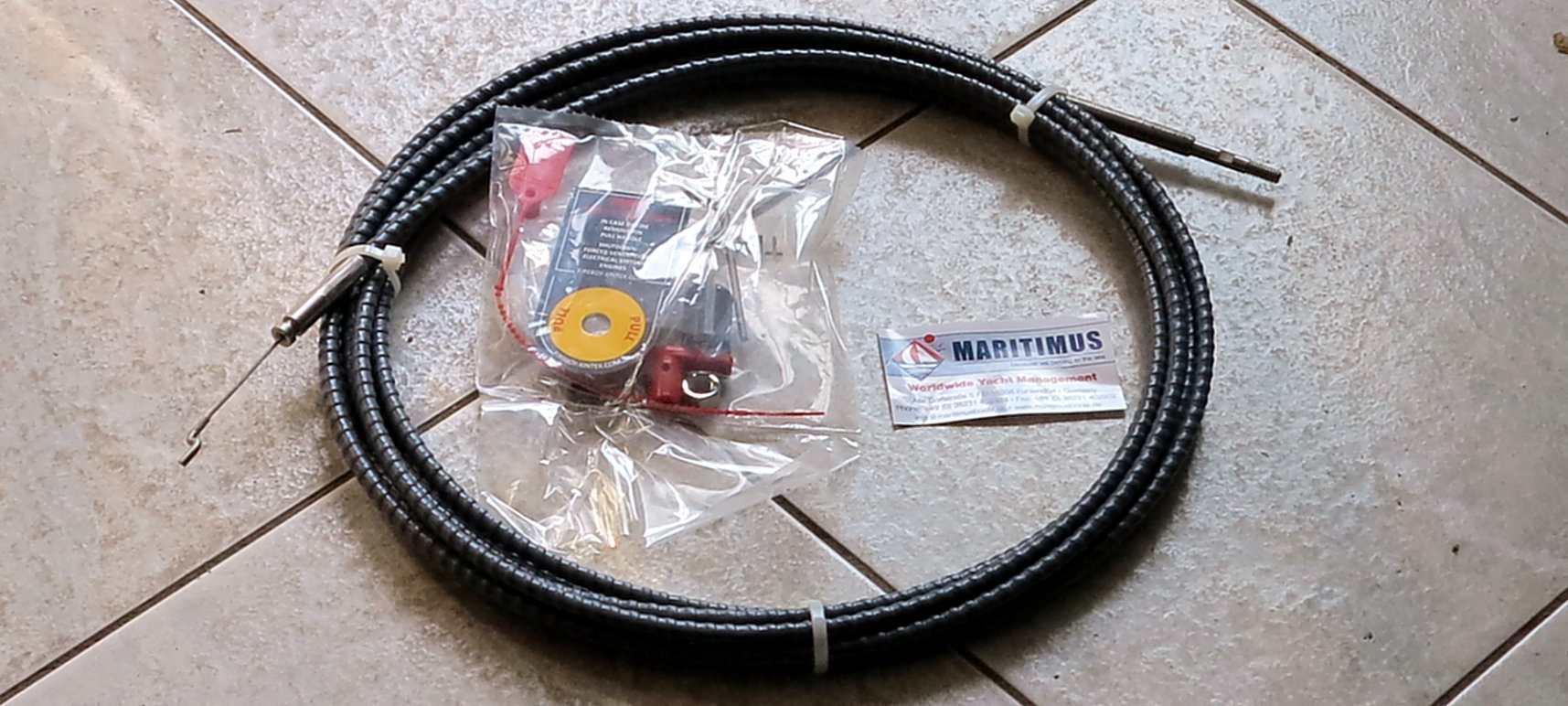 Boat Steering System Rotary 16/' cable Outboard 55 hp Max Marine Rib 4.75 m