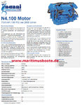 NanniDiesel Engine N4.100 with geare ZF25A 1,93:1