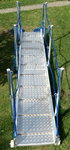 Gangway / loopplank van aluminium, lengte: 4m, stap breedte 600mm, International Admissions Professi