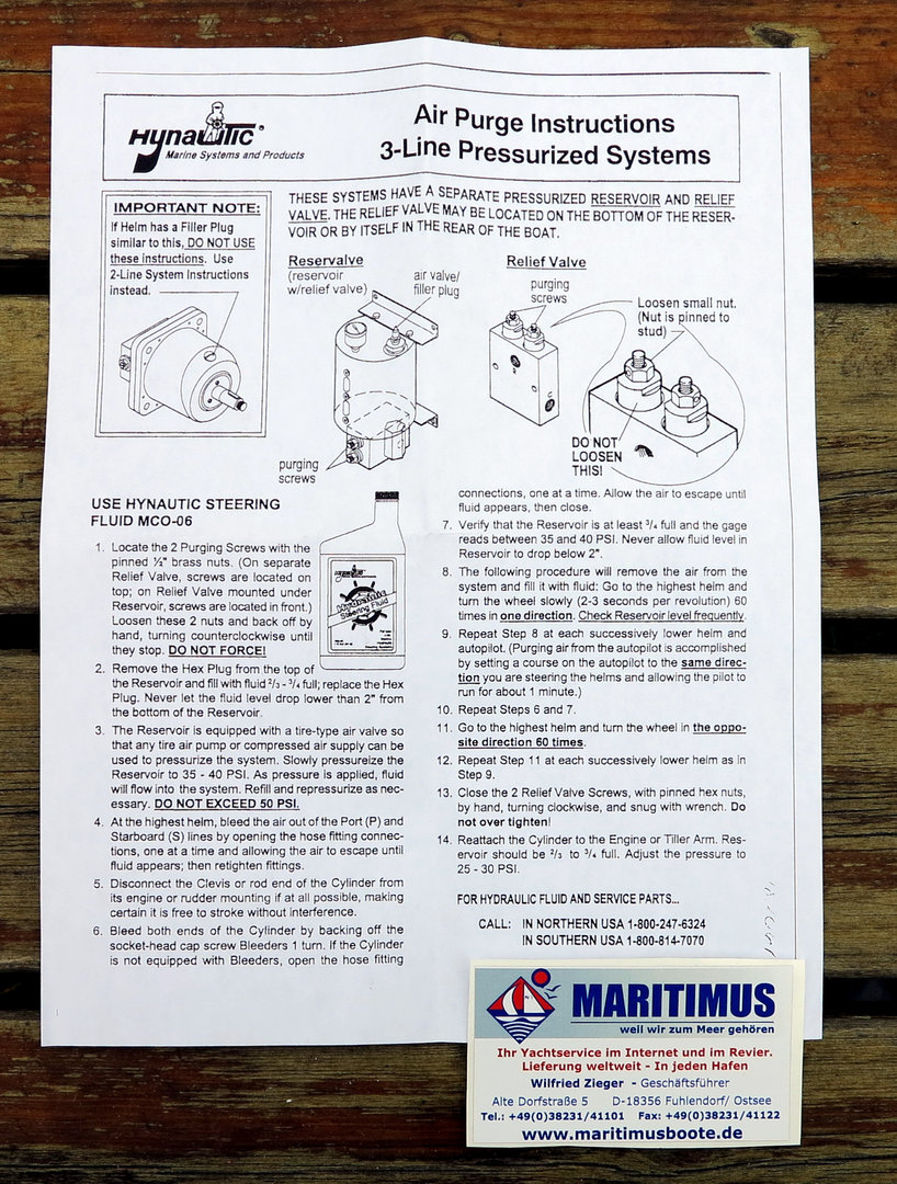 Teleflex Helm Seal Kit HS-05