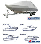 Boat cover for cabin cruisers / T-TOP Boat Dimensions - Length 580 / 640cm