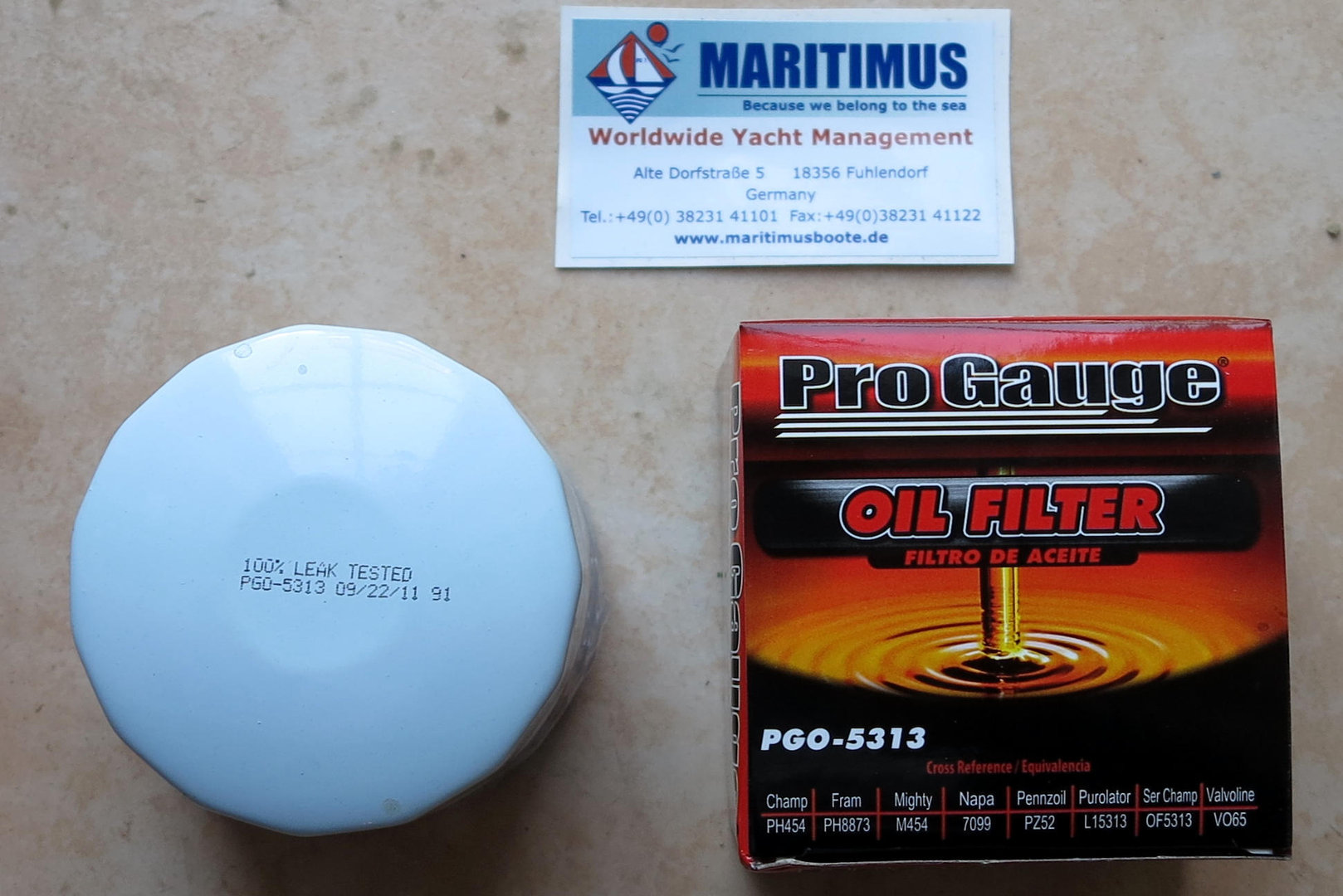 Mercruiser Bravo Ii 1 X Fuel Filter Oil Maritimus Purolator Filters