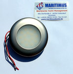LED - Marine Ceiling Light 12/24V, AISI 316 stainless steel, satin finished, nickel-colored