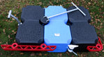 JETFLOAT 1 square meter in blue, sand, black incl. Connector