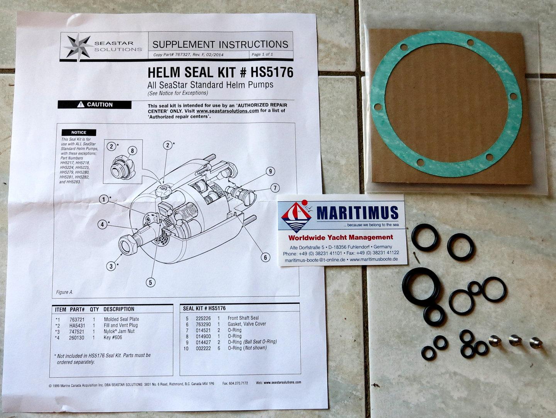Seal Set, SeaStar, HS5176, for Helm HH4314, HH5261, HH5262, HH5271, HH5272,  HH5770