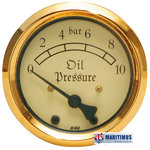 VDO Classic, 3.4431 / 903 Pressure Gauge 10 bar, gold or silver