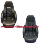Maritimus control chair, yacht pilot in anthracite or dark blue, vinyl, Incl. Holder and embroidery