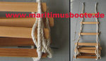 Working Ladder, Wooden Steps L480 X W45 X T50 mm, Rope 14mm