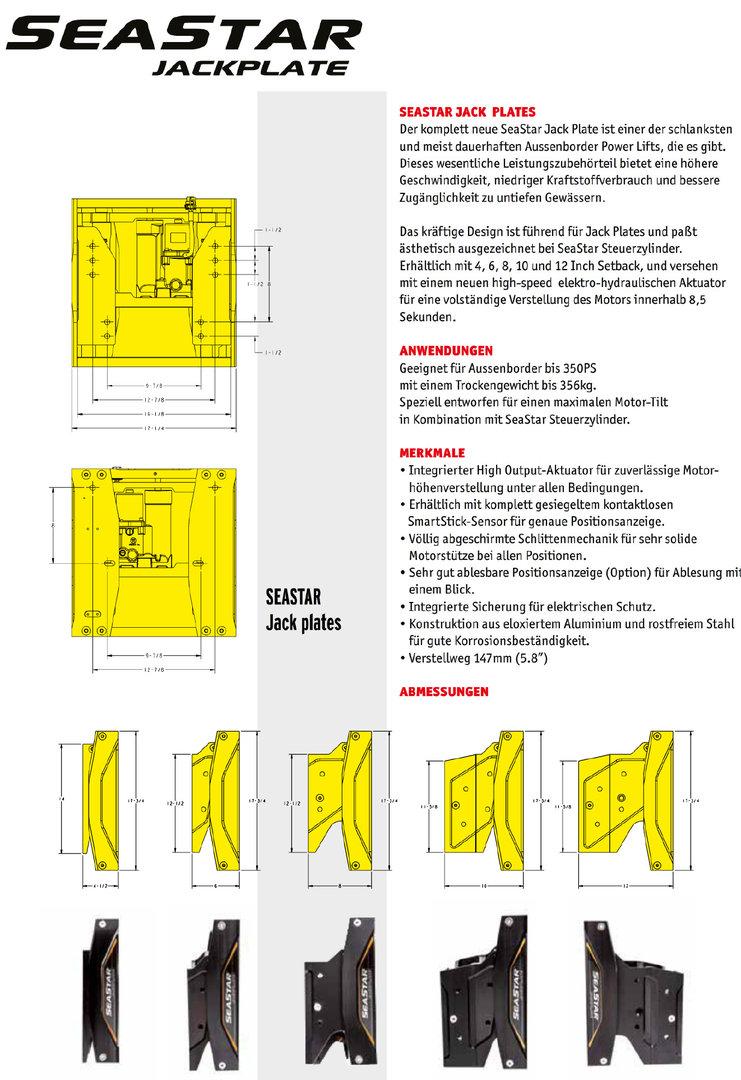 SeaStar Jackplates DK4320, Anzeige, Schalter und Kabel Kit, 2 ...