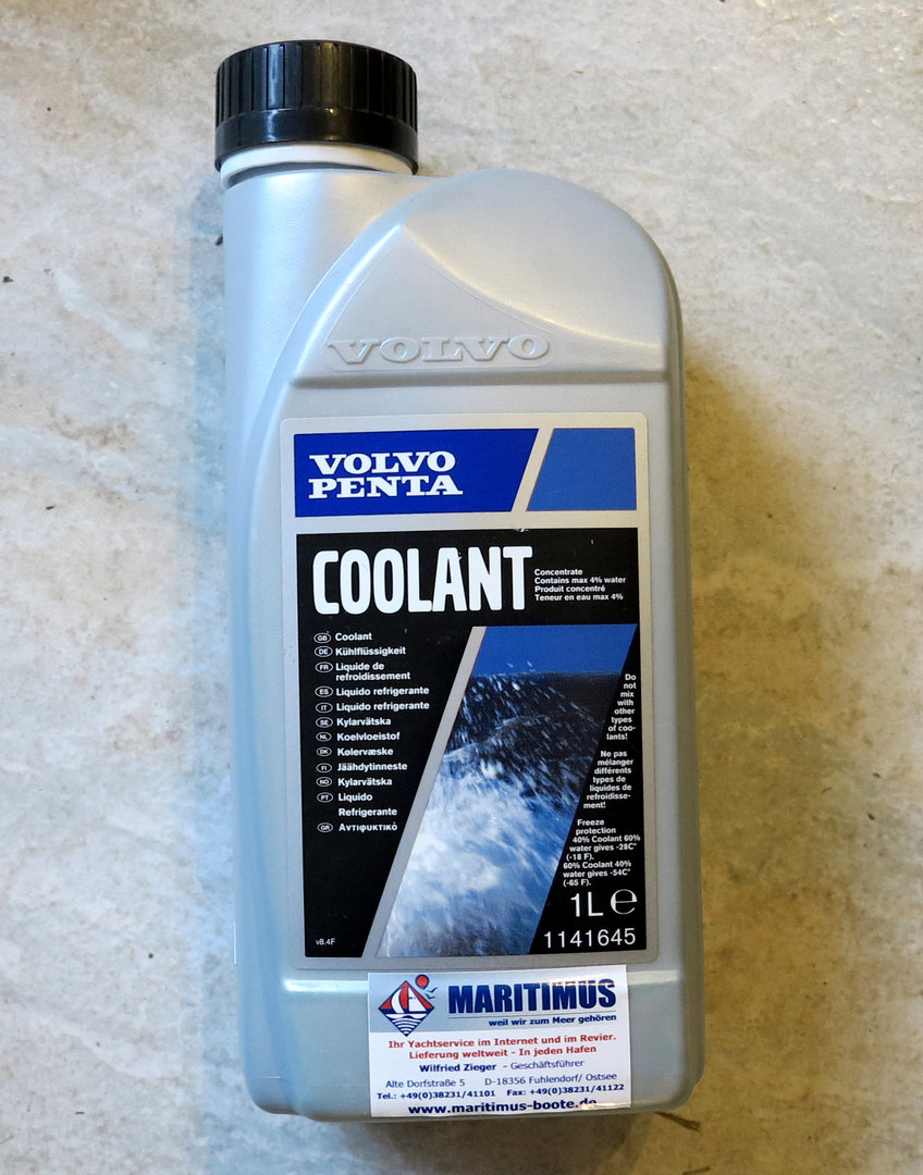volvo penta coolant, corrosion frost protection, enginevolvo penta coolant, corrosion frost protection, engine, concentrate, 12 months protection
