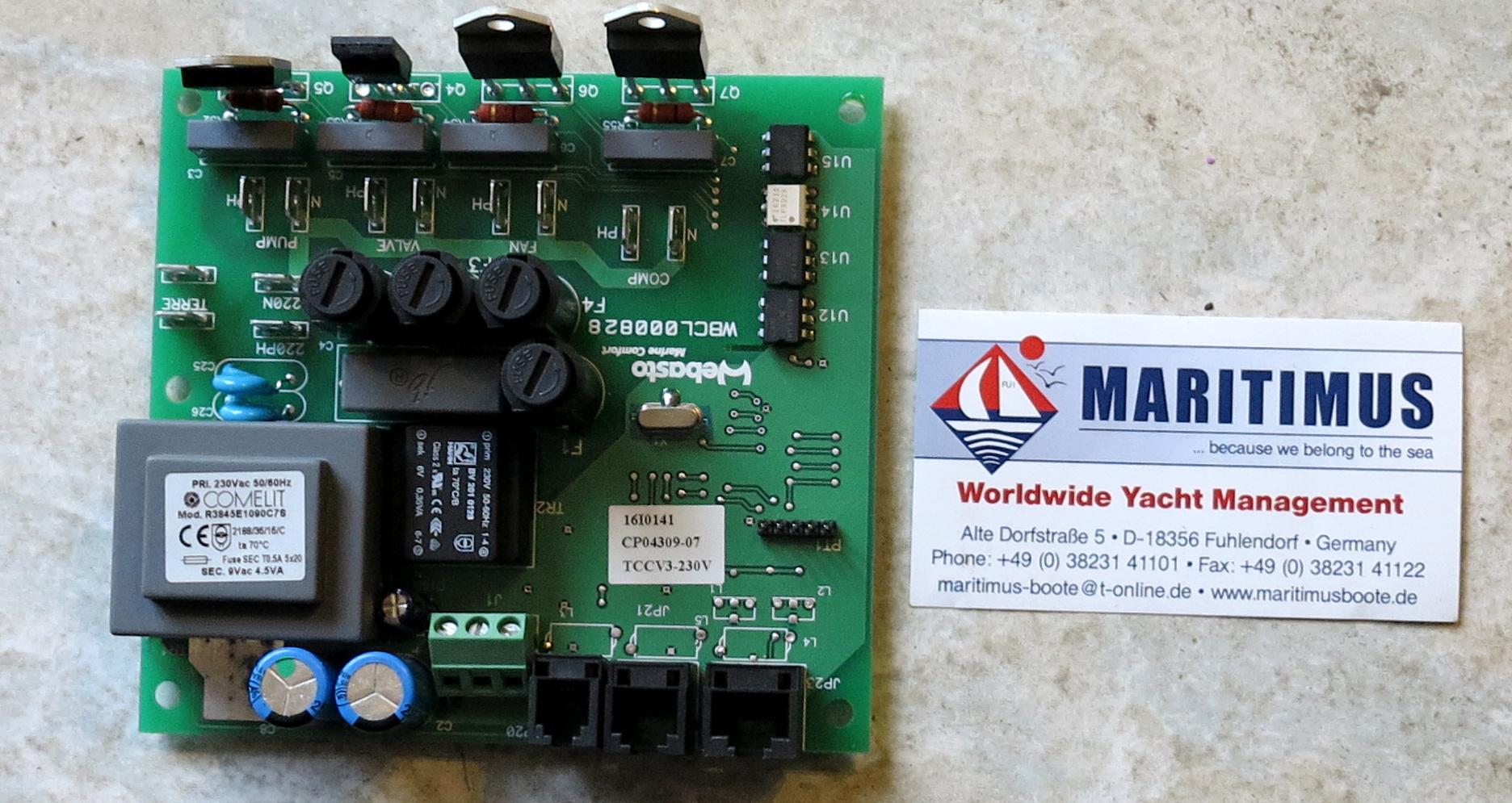 Webasto Leiterplatte Blue Cool Classic, 7.000BTU, TCC V3 Controller ...