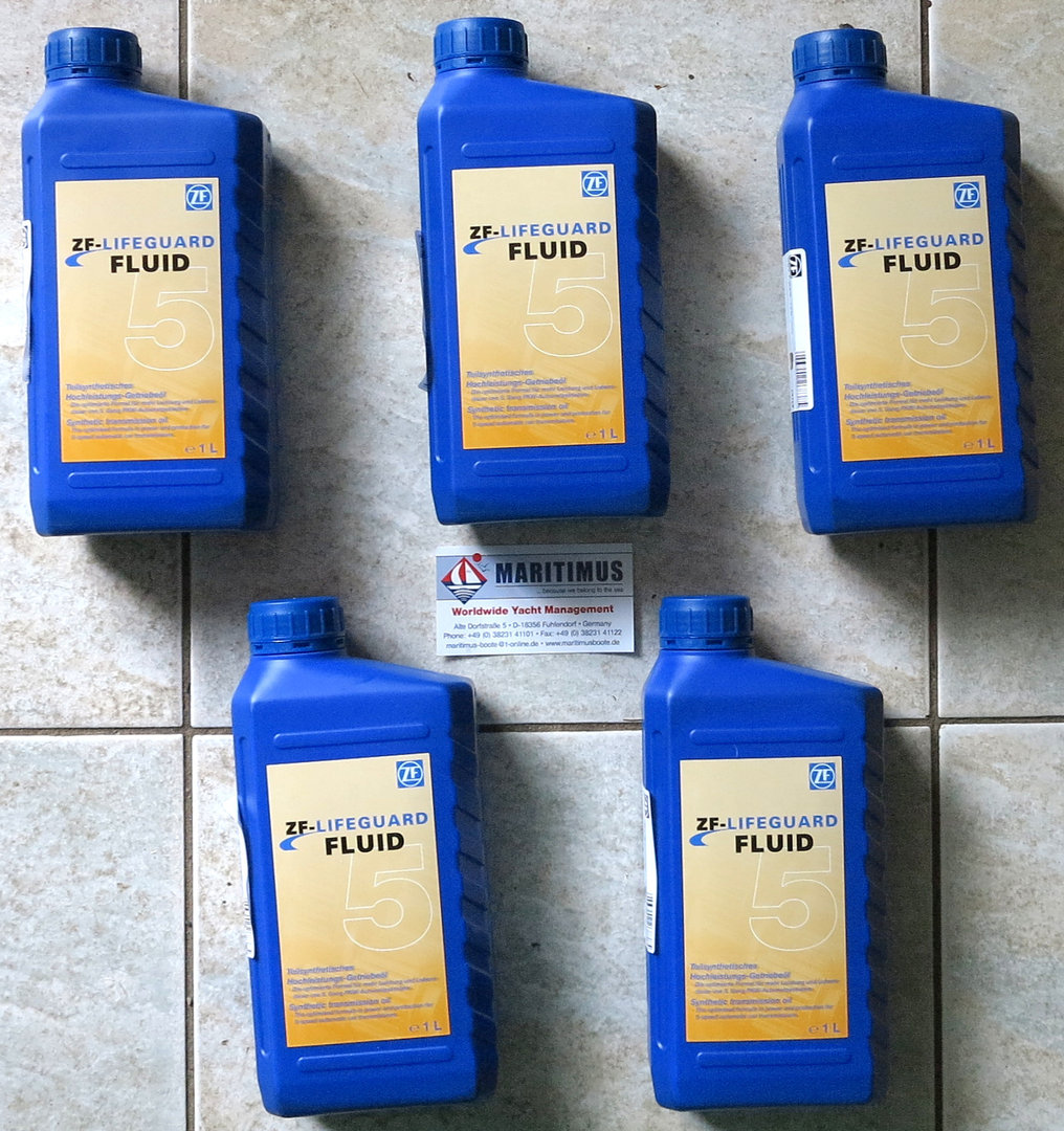 ZF marine transmission oil, 5 liter, ZF 4 to ZF 115 with all