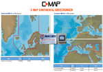 C-MAP 4D MAX / MAX +, EN-D050.39 NORTE E EUROPA CENTRAL CONTINENTAL para Raymarine Dragonfly 5Pro