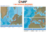 C-MAP 4D MAX/MAX+, EN-D050.39 NORTHERN & CENTRAL EUROPE CONTINENTAL for Raymarine Dragonfly 5Pro