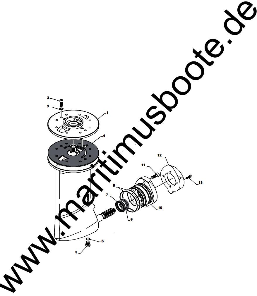ZF Saildrive SD10, 3321301012, Zinc Anode - MARITIMUS  The