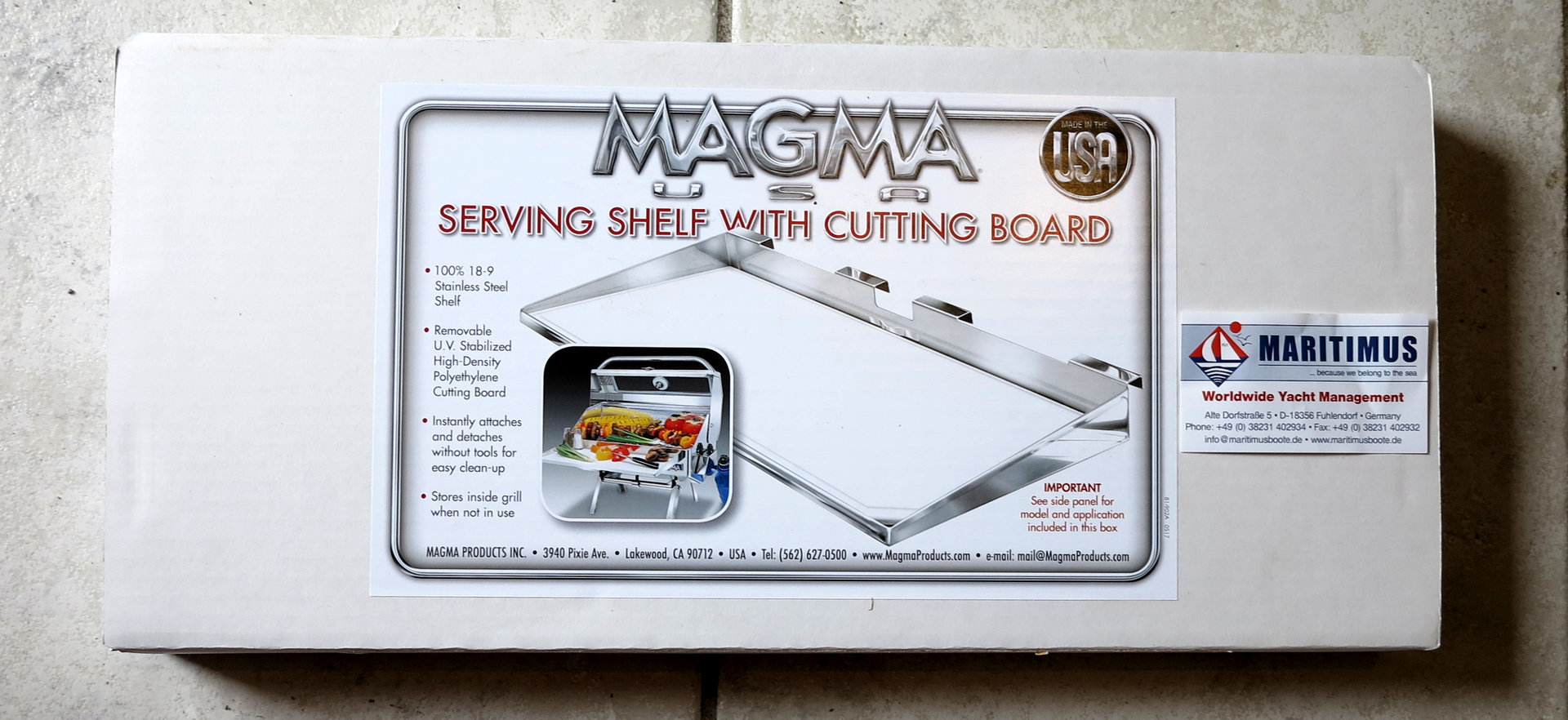 Magma Grills A10-902 Gourmet Grill Serving Shelf W// Removable Cutting Board