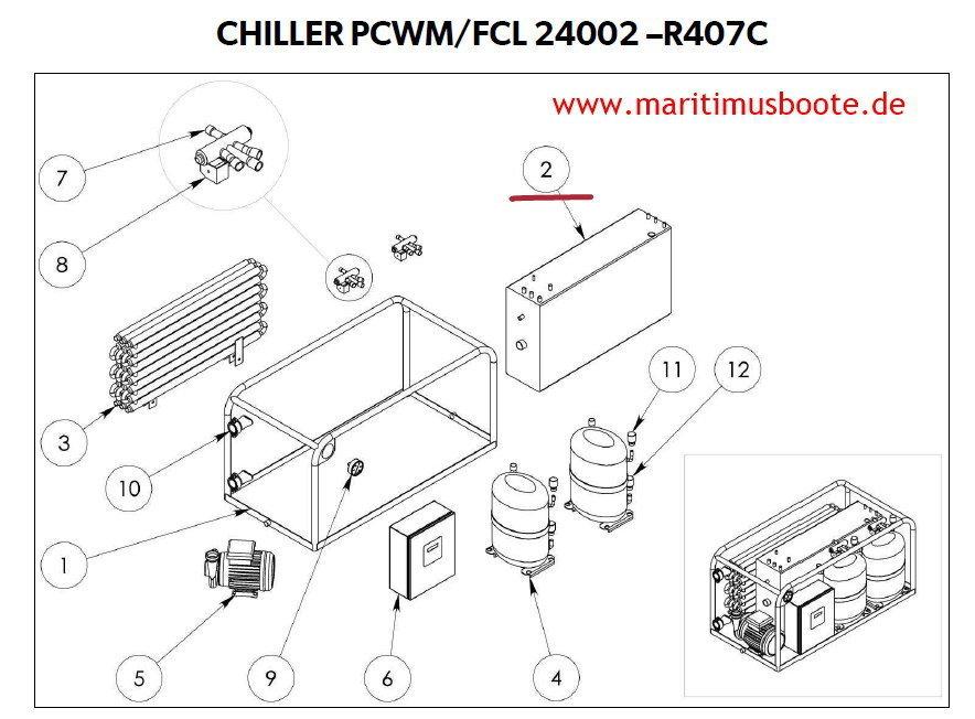 Condaria evaporator EC 22503 for Condaria 22503/220 Volt No