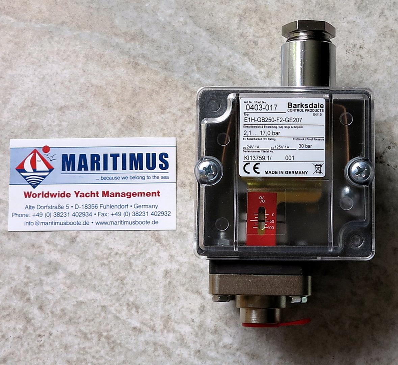 Barksdale Pressure Swich E1H-GB250-F2-GE207, barksdale 0403-017 for