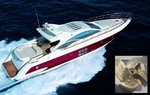 Propeller Yacht Azimut 68S, year 2006