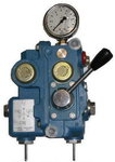 Twin pressure reducing station with lever, Replaces WABCO 335 320 000 0