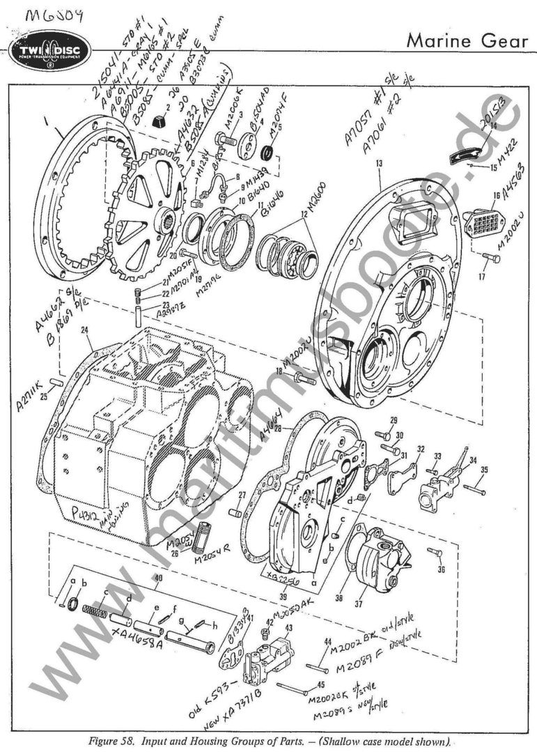 Twin Disc Mg 509 Reconstruction Kit Sealing Kit Friction Disc Kit Bearing Kit Maritimus The Yachtshop All Rights Reserved C 1997 2021